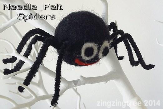 Needle Felt Spiders