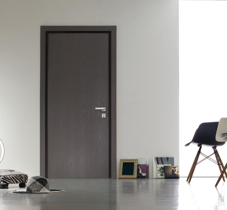 Grey Interior Security Door Flush With Wall