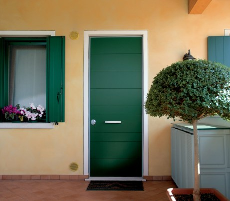 Green Entrance Door with Evolution