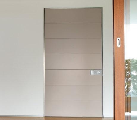 Cream Pivot Security Door