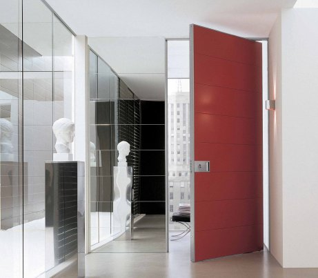 Red Pivot Security Door