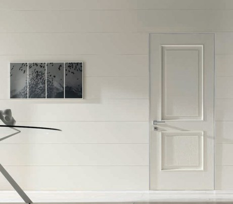 Flush Architectural Security Door in white