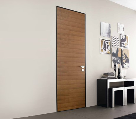 Flush wood interior safety Door