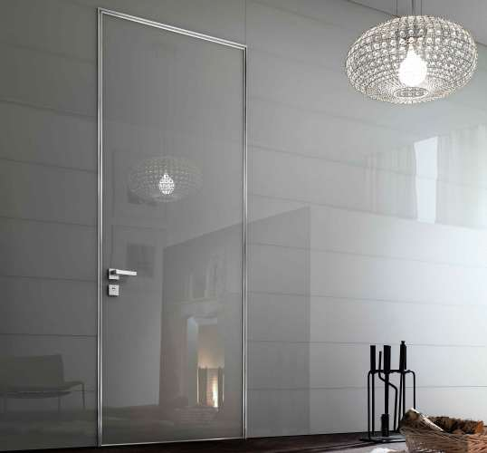 glass flush interior door design