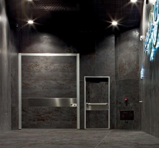 black security door for luxury club