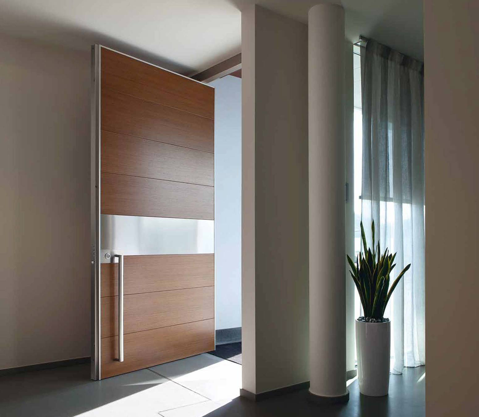 Contemporary + Architrave; Contemporary Architectural Security design & Synua: Pivot Security Door | Oikos Doors | Bluebell pezcame.com