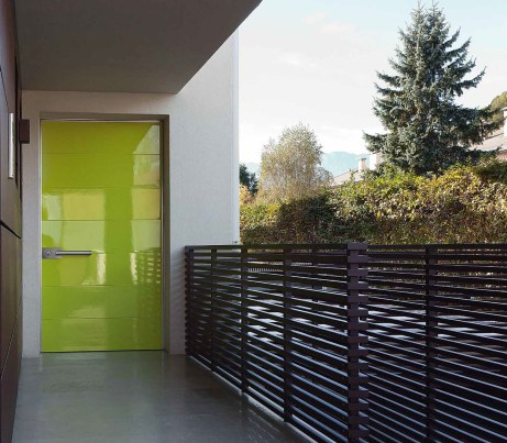lime green pivot front door