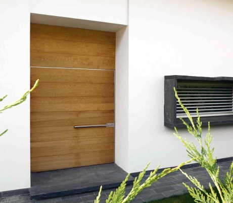 Architectural Pivot Opening Door in teak
