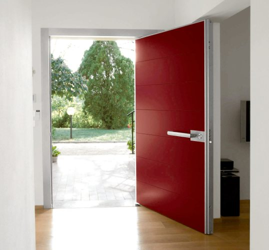 architectural design red entrance door