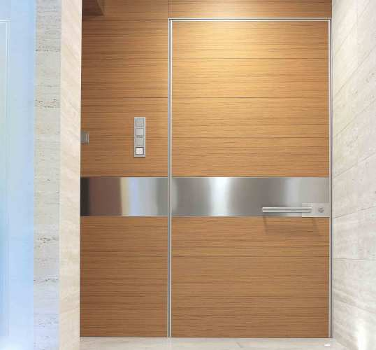 flush with wall pivoting security door