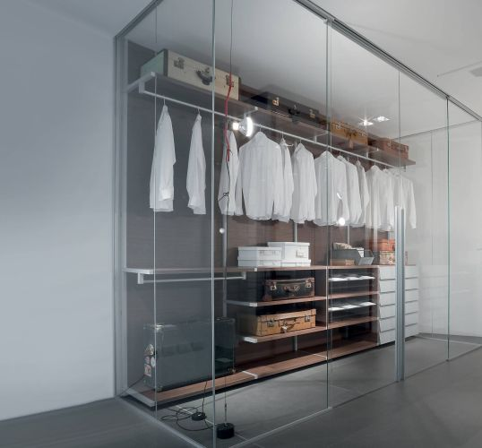 Interior Wardrobe Partition with Sliding Doors