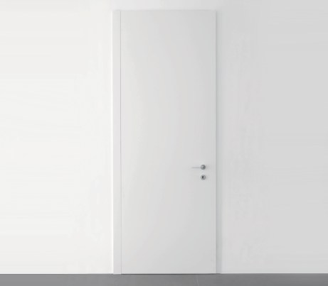 Pain white Concealed Frame Door leaf