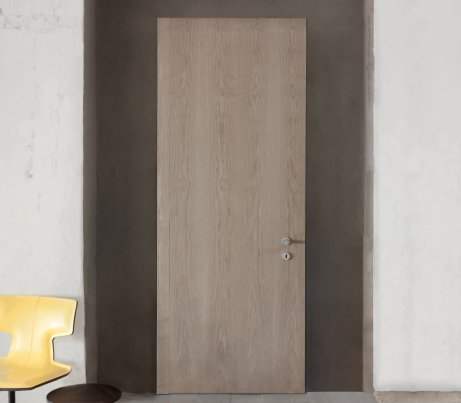 Closed wood lacquered interior Door