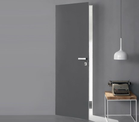 Grey flush Fire Door for Hotels