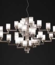 Contemporary brushed chrome Chandelier