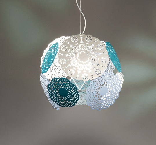 patterned pendant lighting blue