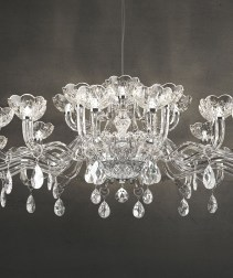 Ornate art-glass Chandelier from ITALAMP