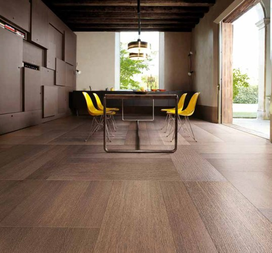 Bluebell Architectural Design Products Foxtrot engineered wooden designer flooring dark oak