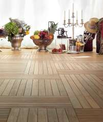 Solid reclaimed Teak Wooden Flooring