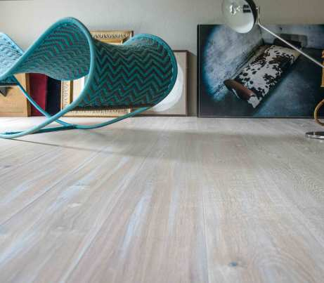 Engineered Oak Flooring in White