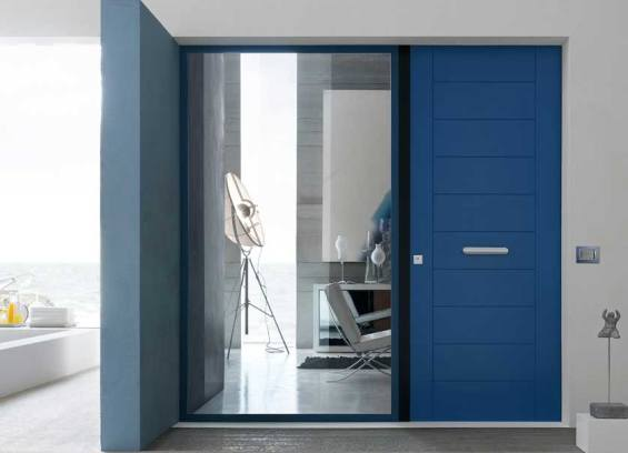 Blue Oikos Security Door