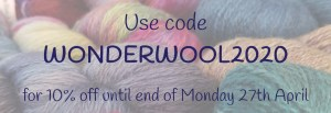 Use code WONDERWOOL2020 for 10% off your order