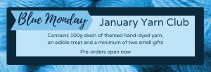 Blue Monday January Yarn Club is open for pre-orders now.
