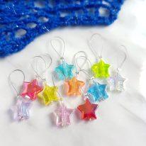 Rainbow star knitting stitch markers