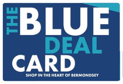 Blue Deal Card, shop in the heart of bermondsey