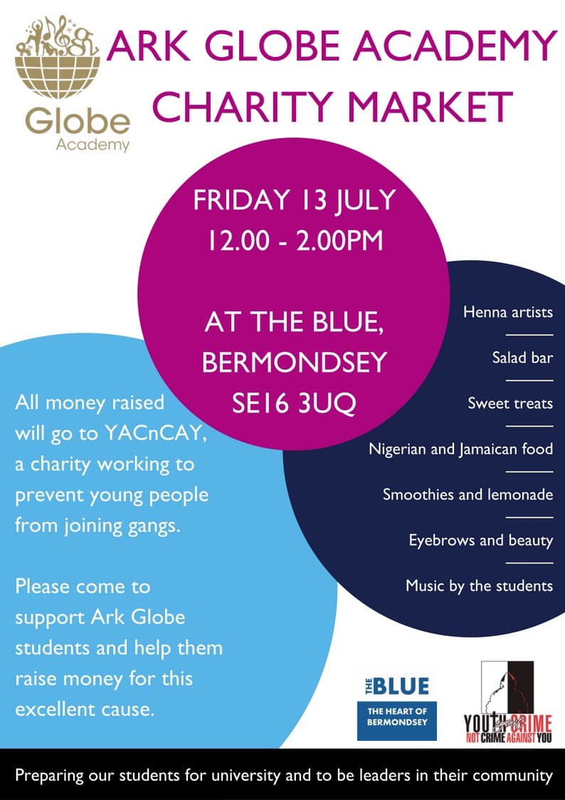 Ark Globe Academy Charity Event In The Blue Market