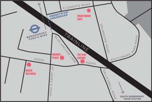 Bermondsey Folk Festival 2018 Simple Map Low-res