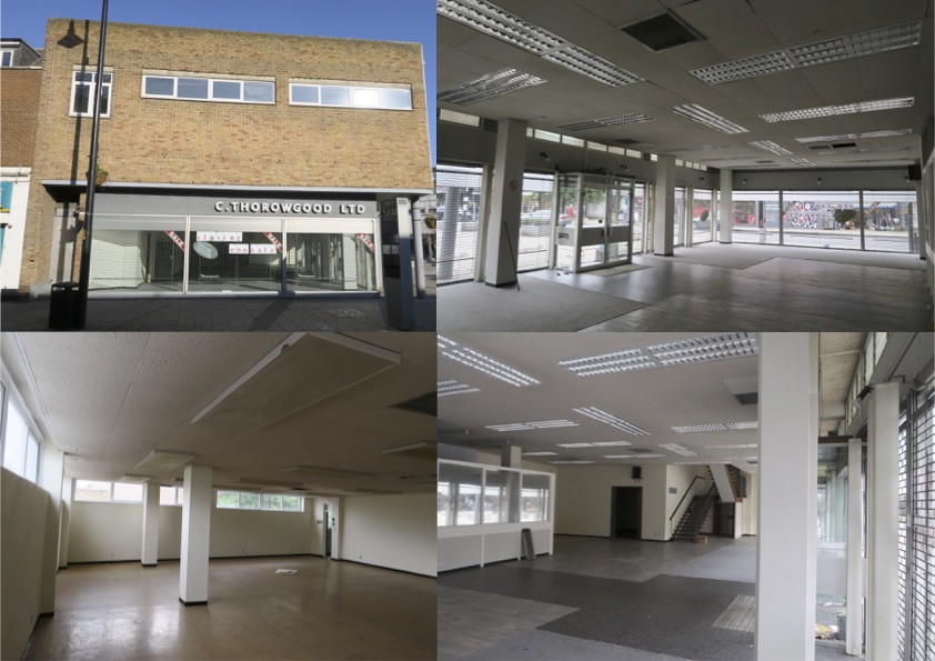 Collage of photos of building at 223 Southwark Park Road