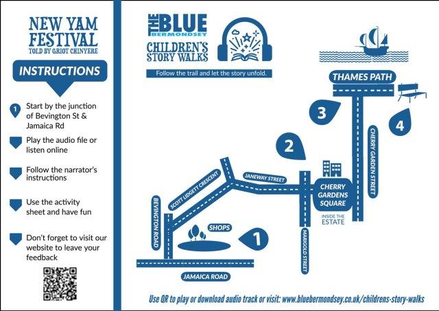 children's story walk map new yam festival