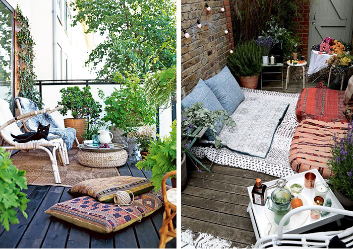 fabulous petit balcon ide dco pour lamnager coussins with ide dco balcon