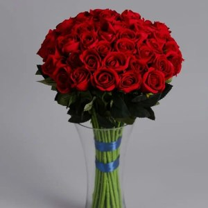 50 Red Roses silk flowers (5)