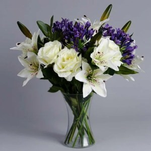 Purple Agapanthus silk flowers (3)_2
