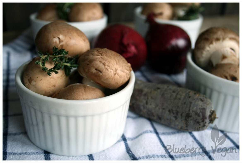 Zutaten Pilztöpfchen