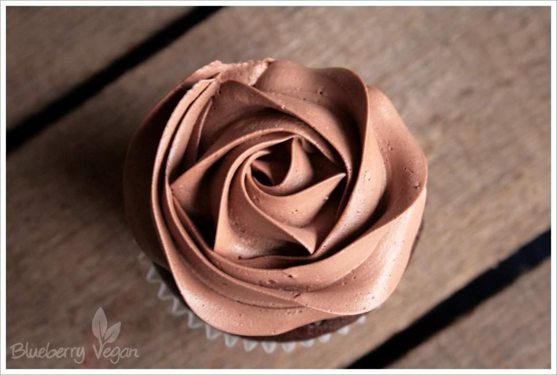 Schoko-Cupcake von oben