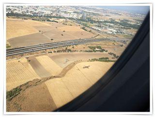 Blick aus dem Flugzeug über Nordspanien