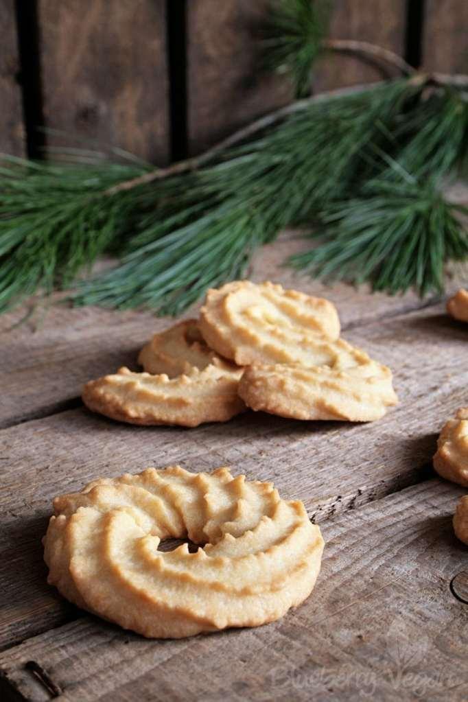 Aus der veganen Weihnachtsbäckerei: Spritzgebäck