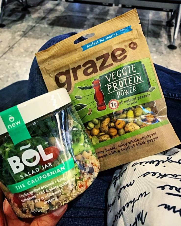 Vegan snacks at the Airport