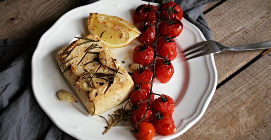 Gebackener Tofu mit Zitrone und Rosmarin