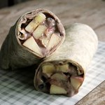 Breakfast Wrap with Fruit and Chocolate Curd
