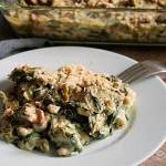Creamy Spinach Spätzle Casserole with Chanterelles