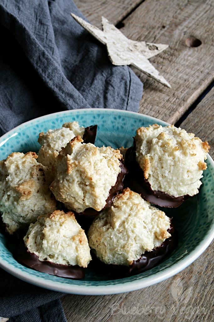 Aus der veganen Weihnachtsbäckerei: Kokosmakronen