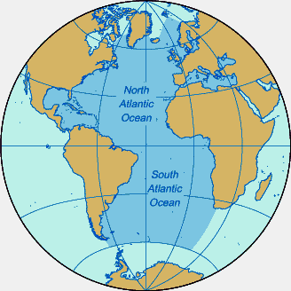 Image result for north atlantic ocean map