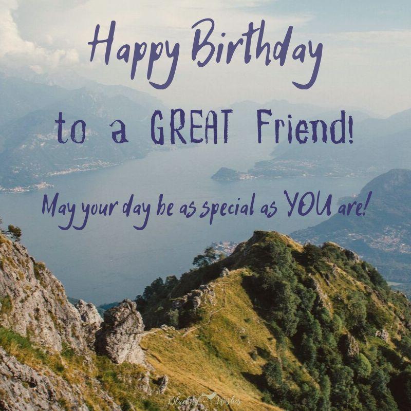 Birthday Wishes For Best Friend Male Bluebird Wishes