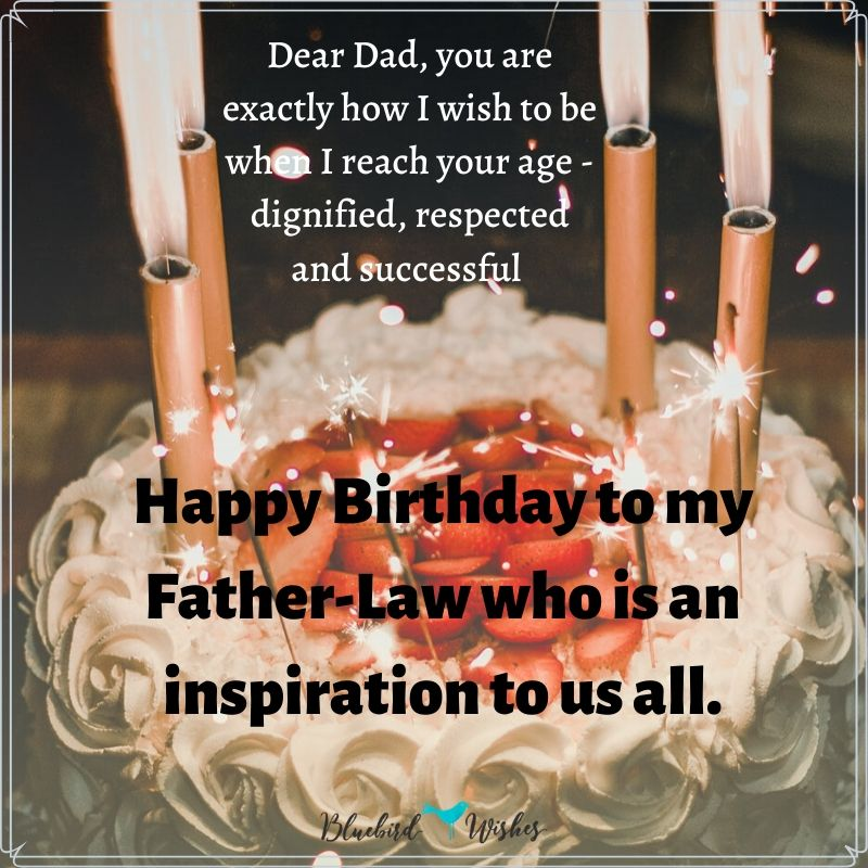Birthday Wishes For Father In Law Bluebird Wishes
