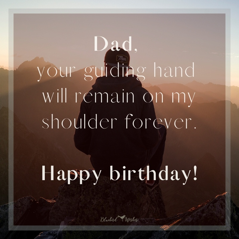 Happy Birthday Wishes For Dad In Heaven Bluebird Wishes