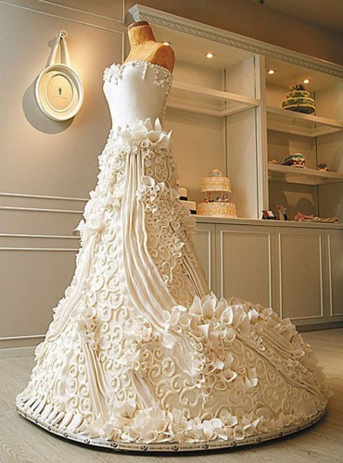 Is It A Wedding Dress or Cake  Wedding Dress and Wedding Cake